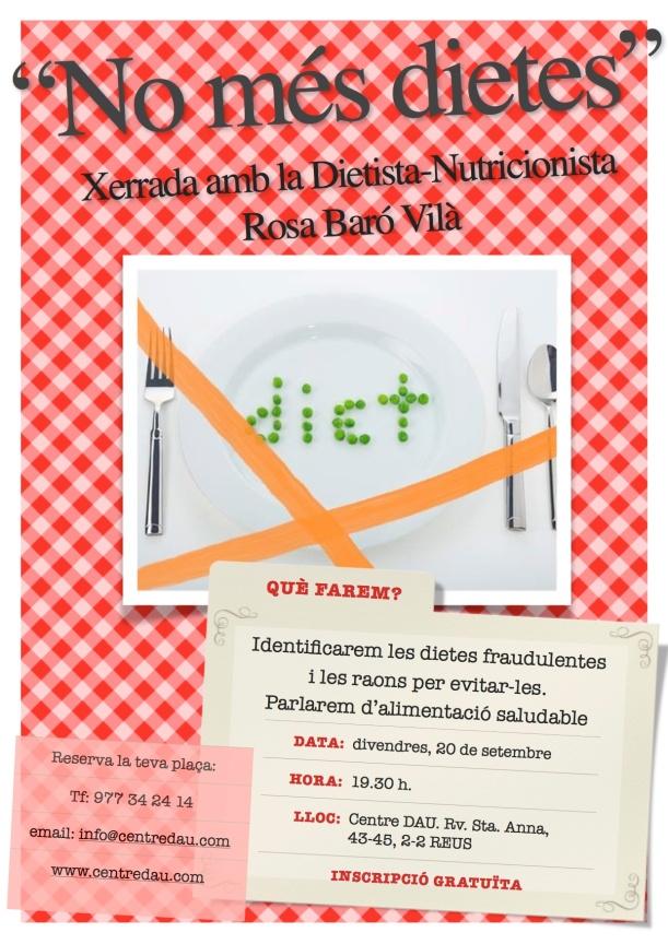 Cartell No més dietes- imatge